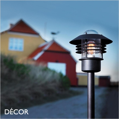 VEJERS OUTDOOR POST LIGHT, WATER & MOISTURE RESISTANT, BLACK