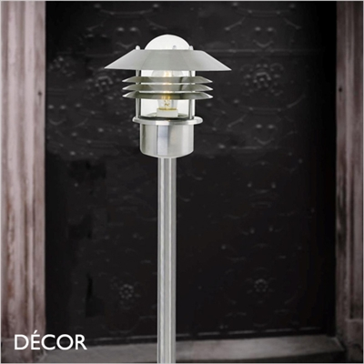 VEJERS OUTDOOR POST LIGHT, WATER & MOISTURE RESISTANT, STAINLESS STEEL