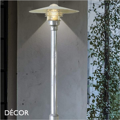 VEJERS, 2 METRE OUTDOOR POST LIGHT, GALVANIZED STEEL