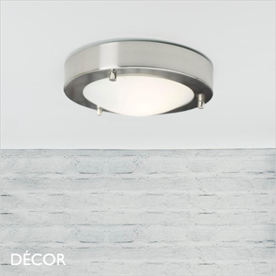 ANCONA 18 CEILING LIGHT, LED, BRUSHED STEEL