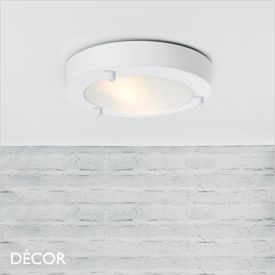 ANCONA 18 CEILING LIGHT, LED, WHITE