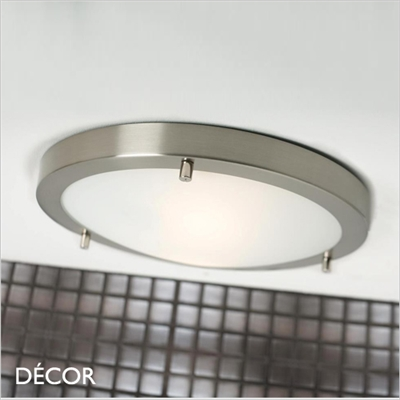 ANCONA CEILING LIGHT, E27, BRUSHED STEEL