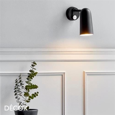 TIPPY WALL LIGHT, BLACK