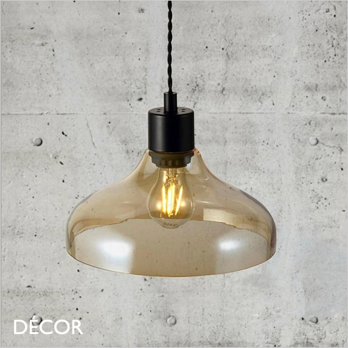 ALRUN PENDANT LIGHT, AMBER