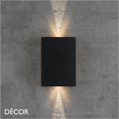 FOLD WALL LIGHT, BLACK, LED, WATER & MOISTURE RESISTANT