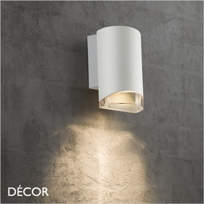 ARN, OUTDOOR WALL LIGHT, WHITE, WATER & MOISTURE RESISTANT