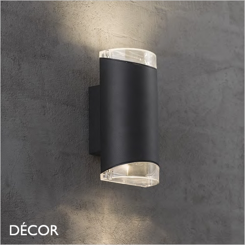 Arn Double Outdoor Wall Light Black Water Moisture Resistant Outdoor Lights Decorlighting