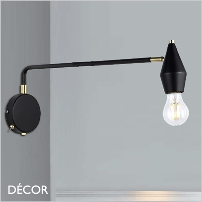 AUD WALL LIGHT, BLACK