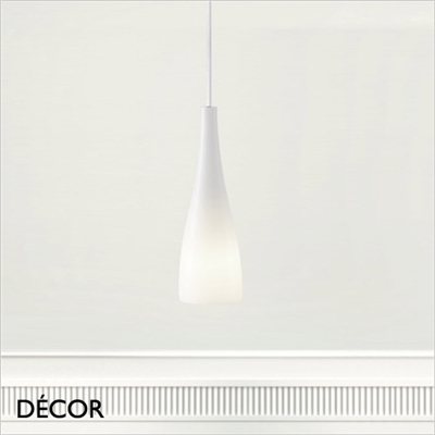 EMBLA PENDANT LIGHT, WHITE GLASS