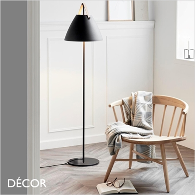STRAP FLOOR LAMP, MATT BLACK