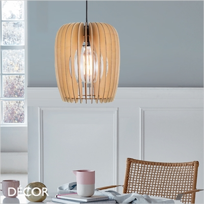 TRIBECA 24 PENDANT LIGHT, LIGHT WOOD