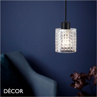 HOLYWOOD PENDANT LIGHT, CLEAR