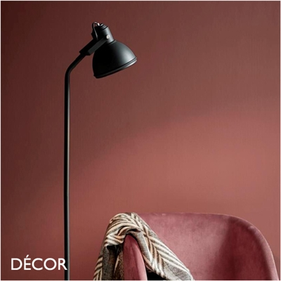 ASLAK ADJUSTABLE FLOOR LAMP, BLACK