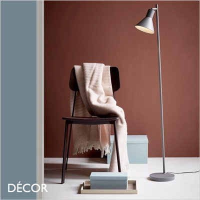 EIK ADJUSTABLE FLOOR LAMP, GREY