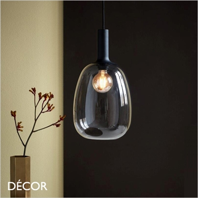 ALTON 23 PENDANT LIGHT, SMOKED GREY GLASS