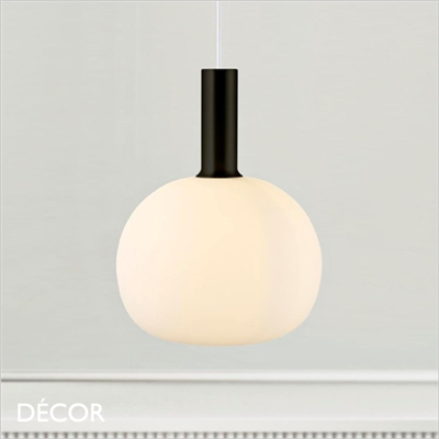 ALTON 25 PENDANT LIGHT, OPAL WHITE GLASS