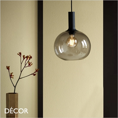 ALTON 25 PENDANT LIGHT, SMOKED GREY GLASS