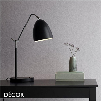 ALEXANDER TABLE LAMP, BLACK