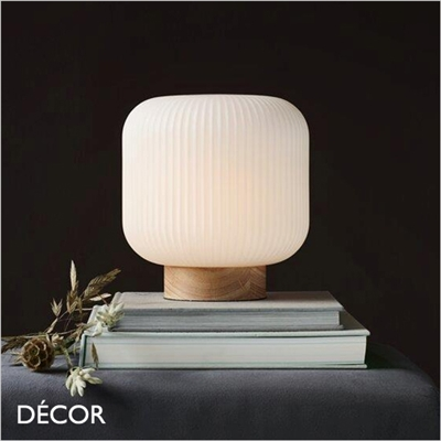 MILFORD TABLE LAMP, WHITE