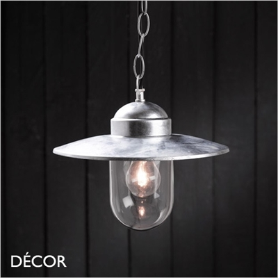 LUXEMBOURGE PENDANT LIGHT, GALVANISED STEEL