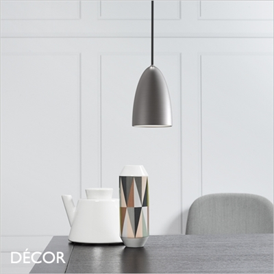 NEXUS 10 PENDANT LIGHT, BRUSHED STEEL