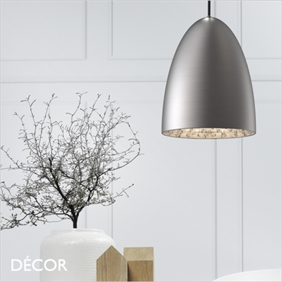 NEXUS 20 PENDANT LIGHT, BRUSHED STEEL