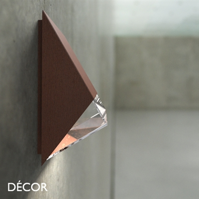 EDGE OUTDOOR WALL LIGHT, WATER & MOISTURE RESISTANT, CORTEN STEEL, RUSTED FINISH