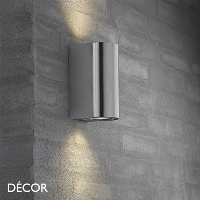 CANTO MAXI OUTDOOR WALL LIGHT, WATER & MOISTURE RESISTANT, STAINLESS STEEL