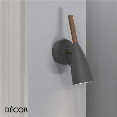 PURE WALL LIGHT, DARK GREY & WALNUT