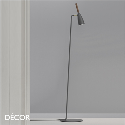 PURE FLOOR LAMP, DARK GREY & WALNUT