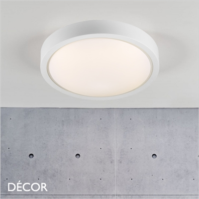 IP S9 CEILING LIGHT, LED, WATER & MOISTURE RESISTANT, WHITE