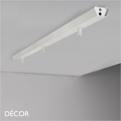 MONTE 3 RAIL CEILING FITTING, WHITE