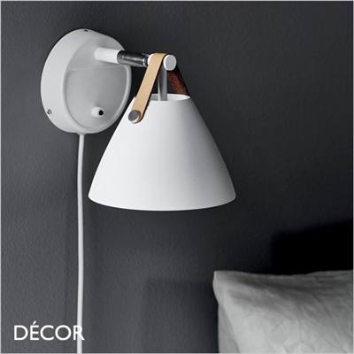 STRAP WALL LIGHT, MATT WHITE