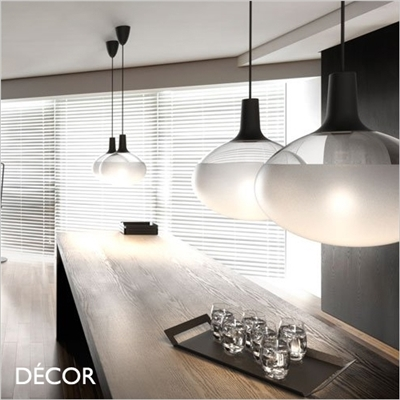 DEE GLASS PENDANT LIGHT, BLACK