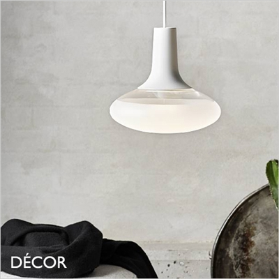 DEE 2 OVAL GLASS PENDANT LIGHT, WHITE