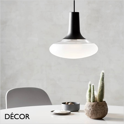 DEE 2 OVAL GLASS PENDANT LIGHT, BLACK