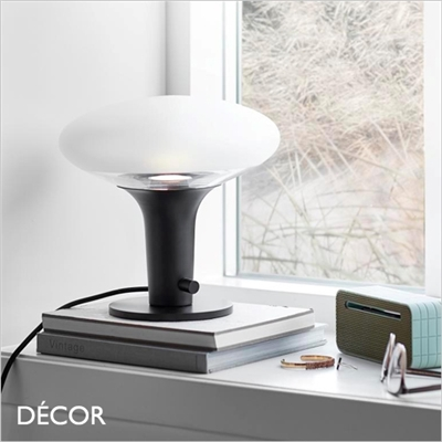 DEE GLASS TABLE LAMP, BLACK