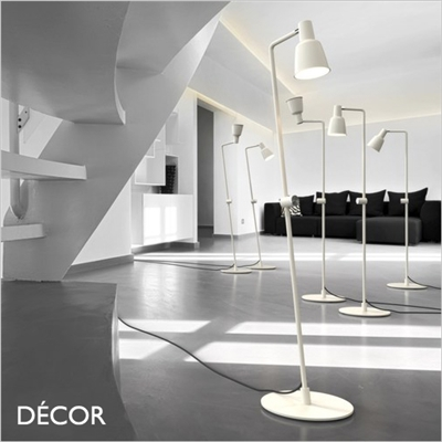 PATTON FLOOR LAMP, DIMMABLE, WHITE