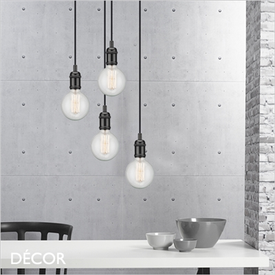 AVRA SUSPENSION LIGHT FITTING, BLACK