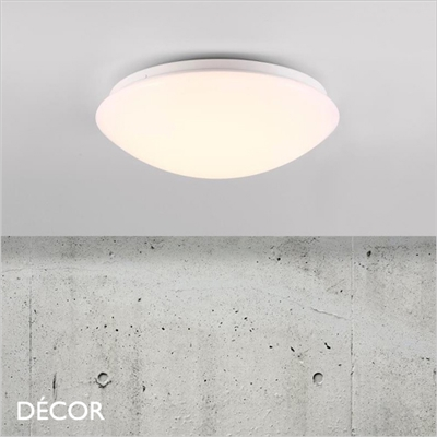 Ask 28, 36 & 41 CEILING LIGHT, LED, WATER & MOISTURE RESISTANT, WHITE