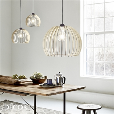 CHINO 25, CHINO 30 & CHINO 40 PENDANT LIGHT, WOOD