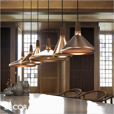 FLOAT 18, 27, 39 PENDANT LIGHT, brushed copper