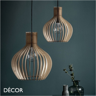 GROA 30 & GROA 40 PENDANT LIGHT, WOOD