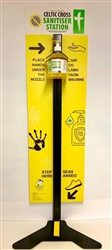 (SPECIAL OFFER) Celtic Cross Sanitiser Station, Non touch Freestanding Sanitiser Dispenser Pedal Operated (STAND ONLY)