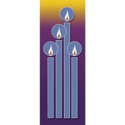Christmas Candles Banner 3.3m x 1.2m No. 1