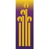 Christmas Candles Gold & Purple Banner 1.2m x 0.5m