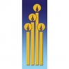 Christmas Golden Candles Banner 1.2m x 0.5m