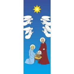 Christmas Holy Family Banner 3.3m x 1.2m
