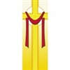 Easter Yellow Cross with Shroud Banner 1.2m x 0.5m (SMALL NO 13)