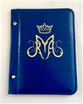 (NO 15) A5 Pocketed sleeves blue leather folder Maria design
